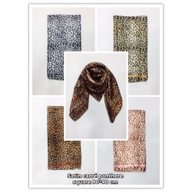 Foulard satin panthere